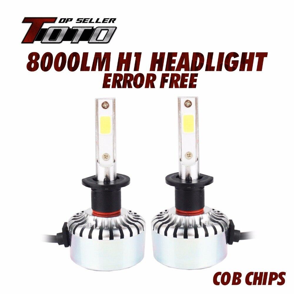 Car-Styling Lowest Price 1A Headlight LED COB Bulb Universal Light 12-24V 40W 8000LM Lamp H1 H3 H4 H7 H8 H9 H11 9005 9006 9012