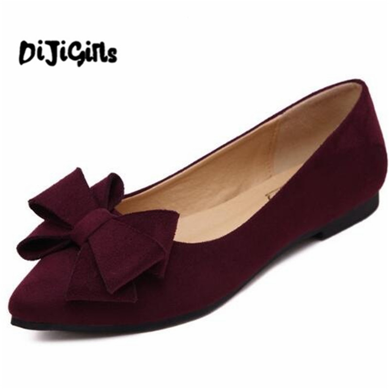 2018 Loafers Casual Platform Shoes Woman Bowtie Ballet Flats Slip On Comfort Fashion Women Shoes Size 35-41 jingkubu 2017 autumn winter women ballet flats simple sewing warm fur comfort cotton shoes woman loafers slip on size 35 40 w329