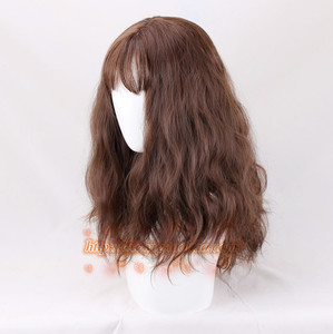 Image 3 - Hermione Jean Granger Cosplay Wig Brown Curly Heat Resistant Synthetic Hair Cosplay Costume Wigs + Wig Cap