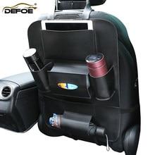 Auto veranstalter auto sitz lagerung tasche sitz zurück tasche verstauen aufräumen Multifunktions fahrzeug auto sitz abdeckung tasche Verhindern kinder kick