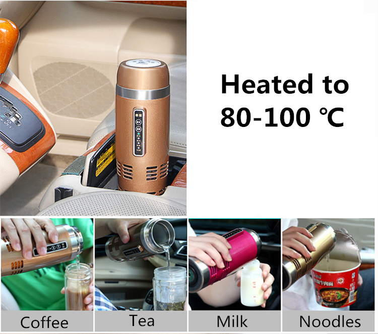 2 в 1 многофункциональная автомобильная электрическая Приспособления 420 мл транспортное средство для отопления и охлаждения Нержавеющаяс... - 5