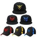Jogo pokemon cosplay móvel ir valor da equipe equipe místico instinto da equipe snapback boné de beisebol do chapéu