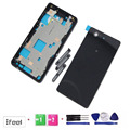 100% Test NEW Touch Bezel Housing Chasis Battery Cover +Frame For Xperia Z3 Mini Compact Black