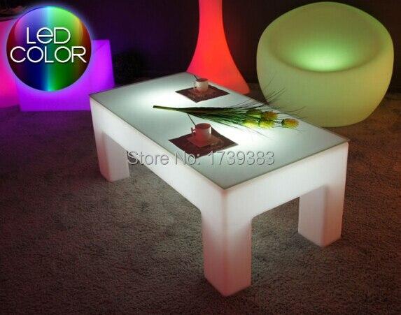 aliexpress koop rechthoek lichtgevende salontafel led licht