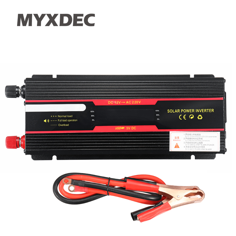 2000W Car Power Inverter Converter LCD Display Vehicle DC 12V to AC 220V USB Adapter Portable