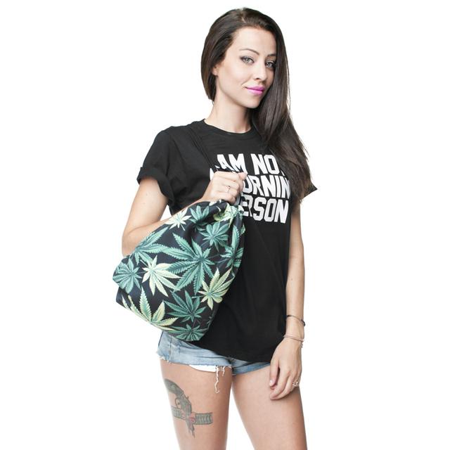 Women's Hemp Printed Drawstring Bag