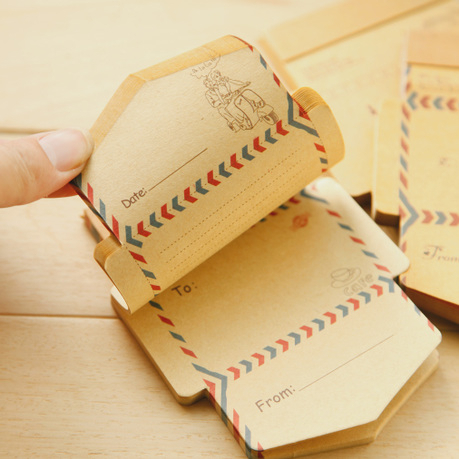 50 Pcs/pack Mini Retro Vintage Kraft Paper Envelopes Cute Cartoon Kawaii Paper Korean Stationery Gift Supplies