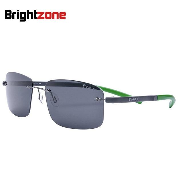 2016 de la moda de luz exceder de dos tonos marco tr90 gafas de sol nada ojo titanium frame hombre mujer gafas de sol de luz polarizada espejo