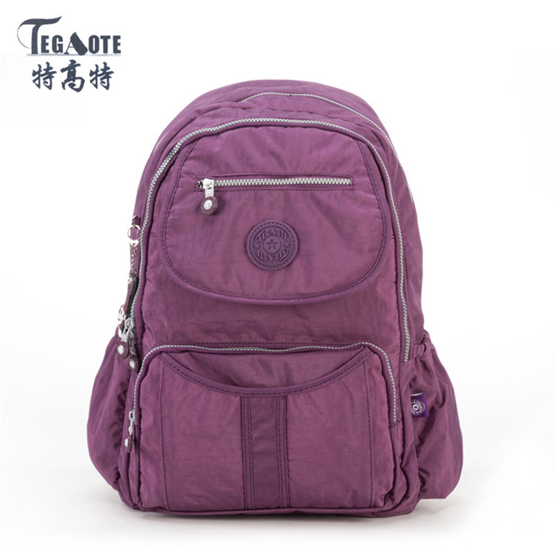TEGAOTE 2017 School Backpack Teenage Canvas Backpack Mochila Feminine Backpack Women Solid Famous Casual Female Laptop