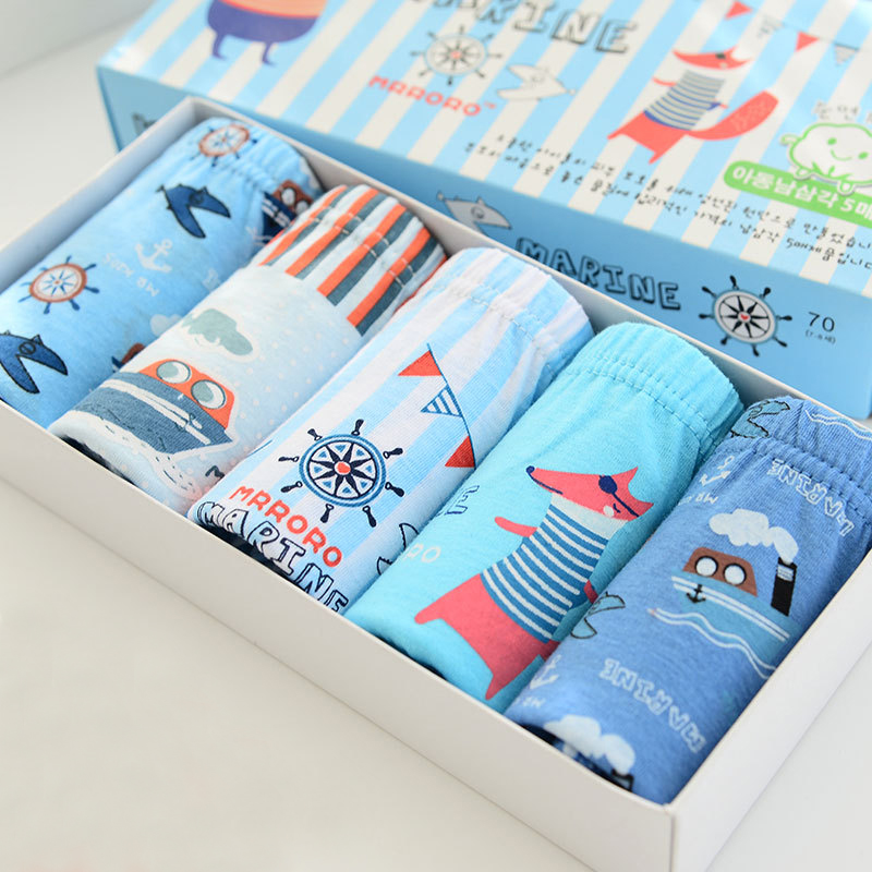 5 Pcs/Lot 2-10Y Kids Boys Girls Briefs Baby Underwear 5-Kinds Style Organic Cotton Boy Girl Shorts   Panties   For Children Clothes