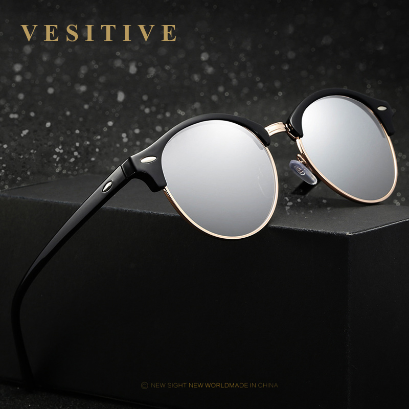 2017 New Polarized Vintage Retro Round Banned Sunglasses Women Luxury Sun Glases Female Brand Designer Oculos De Sol Feminino image