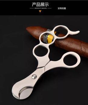 Nowy 1 pcs stal nierdzewna cigar frez cygaro nożyczki nóż cygar akcesoria tanie i dobre opinie 9201 stainless steel pedestrian