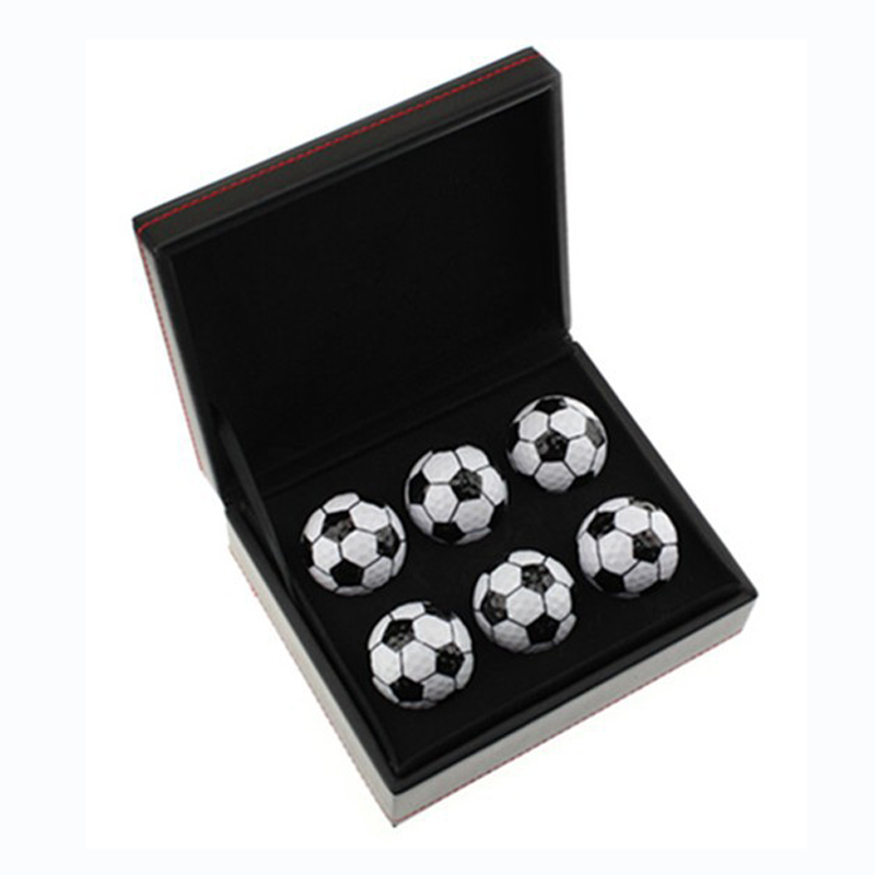 Custom Logo Accept 6pcs football golf balls in Box Golf Gift Golf Present for friend