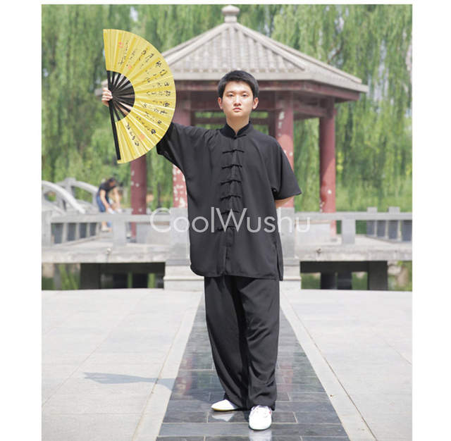 US $16 9 |Gold color Tai chi fan bamboo kung fu fan china wind Martial arts  equipment wu shu fan-in Martial Arts from Sports & Entertainment on