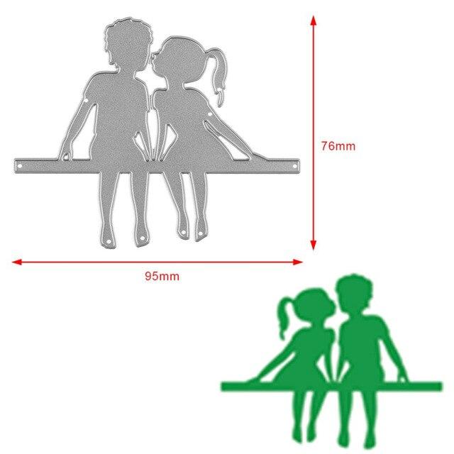 Aliexpress Com Buy Couple Kissing Boy Girl Cutting Dies Stencils