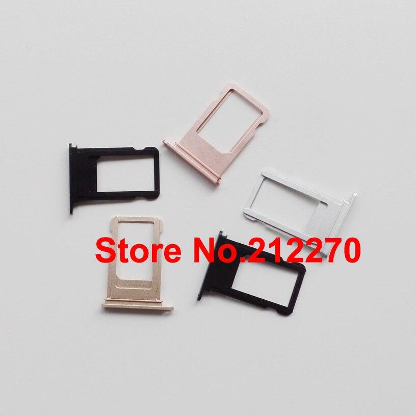 bilder für 100 teile/los original neue nano sim karten-behälter-schlitz-halter ersatzteile für iphone 7 plus ersatzteile großhandel