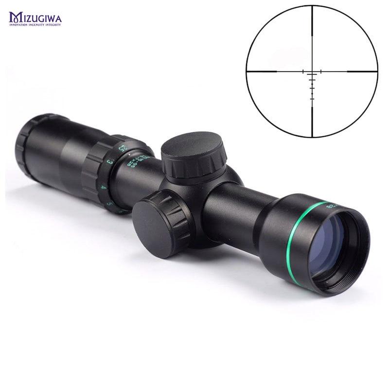 Tactical Optical Sight 2.5-7x28 Telemetro del Reticolo Mirino Ottico Sight Air Rifle Scope Pistola del Airsoft Fucile Ad Aria Compressa Chasse caccia