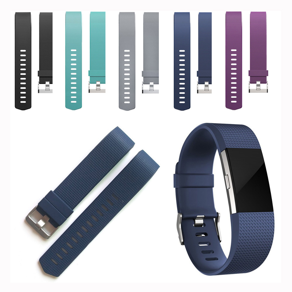 UEBN Fashion sport soft silicone strap band for fitbit charge 2 bracelet watchband for fitbit chargr 2 bands jansin 22mm watchband for garmin fenix 5 easy fit silicone replacement band sports silicone wristband for forerunner 935 gps