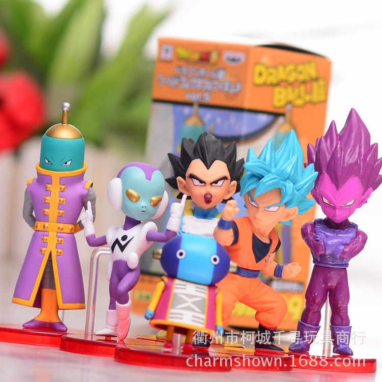 6 pçs/set Dragon Ball Z Vegeta Goku Anime Action Figure PVC Nova Coleção figuras de Coleta de brinquedos para presente de Natal
