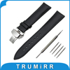 18mm 20mm 22mm Genuine Leather Watch Band For Timex Weekender Expedition Butterfly Buckle Strap Wrist Belt