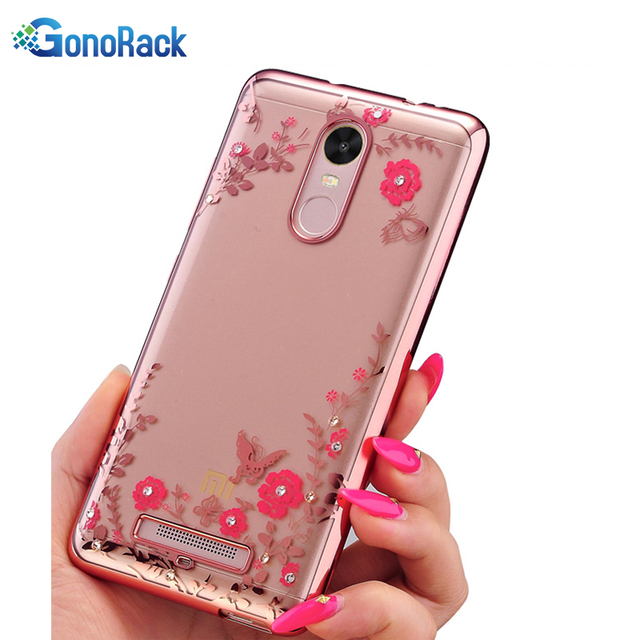huge selection of 30aac 030c2 US $2.99 |GonoRack For Xiaomi Redmi Note 3 3 Pro Note 4 4X 4A Back Cover  Secret Garden Flowers Diamond Bling Plating Soft TPU Case Cover-in ...