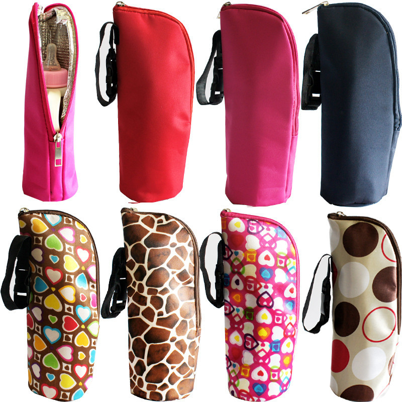 Baby Multicolor Thermal Feeding Bottle Warmers Mummy Tote Bag Hang Stroller cloth aluminium film baby bottle storage box baby feeding bottle cover bag boxes baby feeding bottle holder for travel outdoor