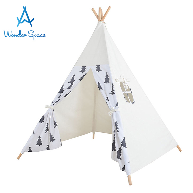 US $99 99 |Kids Teepee Play Tent 100% Cotton Canvas Large Premium Handcraft  Children Tipi Playhouse Indoor Outdoor Toy Boys Girls Baby Gift-in Toy