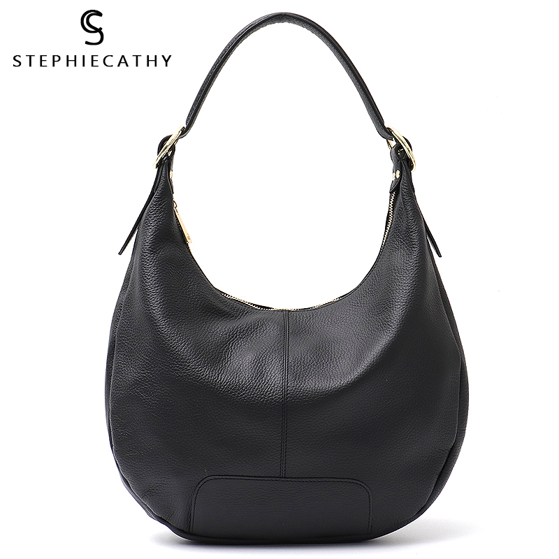 SC Luxury Brand Women Hobo Bags Genuine Leather High Quality Shoulder Messenger Bags for Ladies Pillow