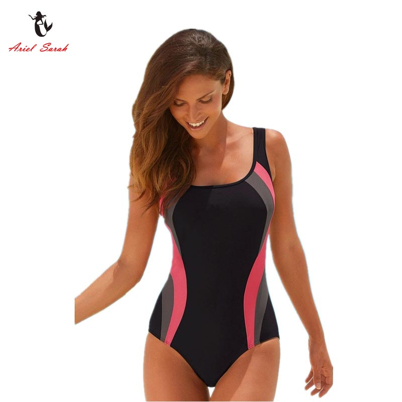 Ariel Sarah Brand 2017 Hot Solid Swimsuit Swimwear Women One Piece Swimsuit Sexy Monokini Maillot De