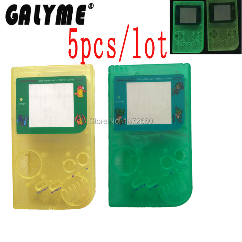 5PCS/LOT Full Set Housing Shell Case Cover For GameBoyGB Game Console for GBO DMG GBP With Buttons Luminous Light Multi-Color