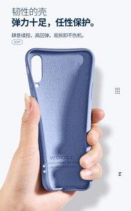 Image 2 - For Xiaomi Mi A3 Case Soft Liquid Silicone Slim Skin Coque Protective back cover Case for xiaomi mi a3 lite a3lite phone shell