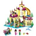 10436 BELA Princesa Sereia Submarino Palácio Menina Amigos Lepin Edifício Tijolos Compatíveis Brinquedos Para Crianças Presente de Aniversário