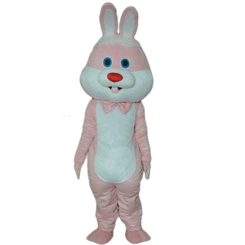 Vente chaude de haute qualité rose lapin dessin animé mascotte costume livraison gratuite