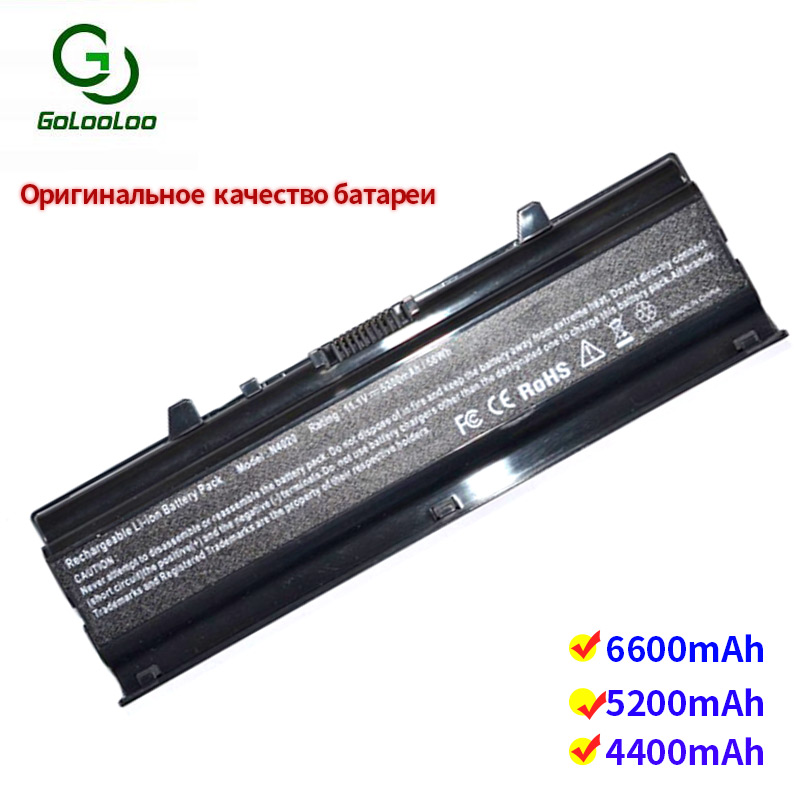 Golooloo 6 Cells Laptop Battery For Dell PD3D2 TKV2V W4FYY X3X3XYM5H6 YPY0T