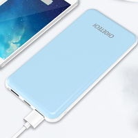 CHOETECH 10000mAh Power Bank for iPhone 6 6s 7 Plus Dual USB Output Mobile Phone Portable Charger External Battery for Samsung