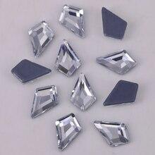 Kite Stones Iron-On Flat-Back Crystal 4x6mm Lead-Free 6x8mm