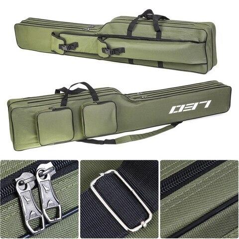 Leo Fishing Bags 130Cm Foldable Multi-Purpose Fishing Bags Fishing Rod Bags Zipped Case Fishing Tackle Bags Pouch Holder Multan
