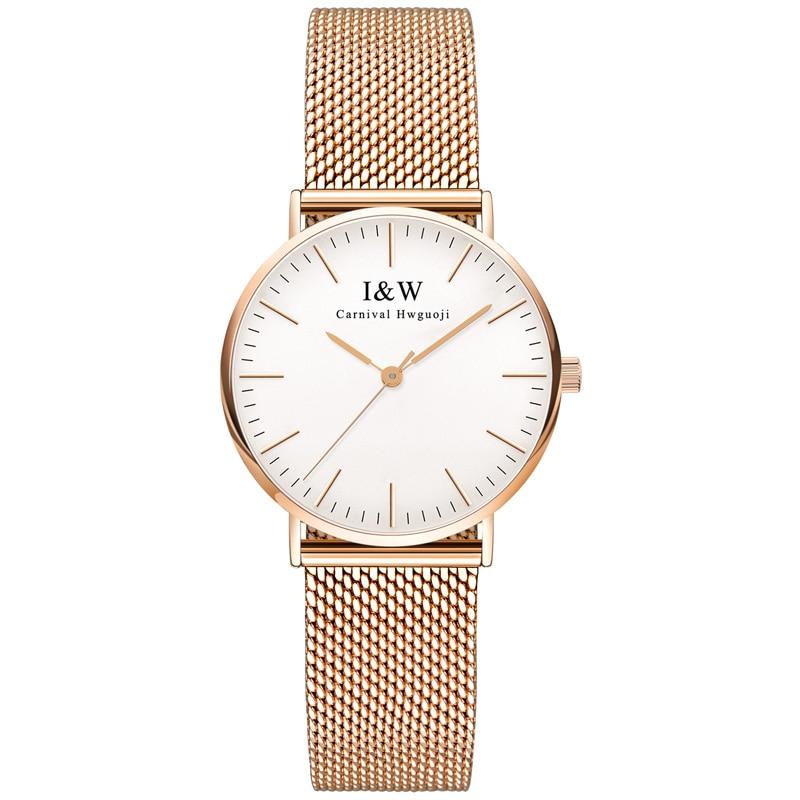 Карнавал Элитный бренд часы Для женщин Швейцария кварцевые Для женщин часы Водонепроницаемый полный Нержавеющая сталь алмаза reloj hombre C8758 6 купить на AliExpress