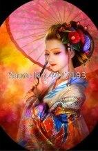 diamond art Japanese woman umbrella Diamond Painting Cross Stitch Fulll resin rhinestones diy Mosaic home Decorate gift