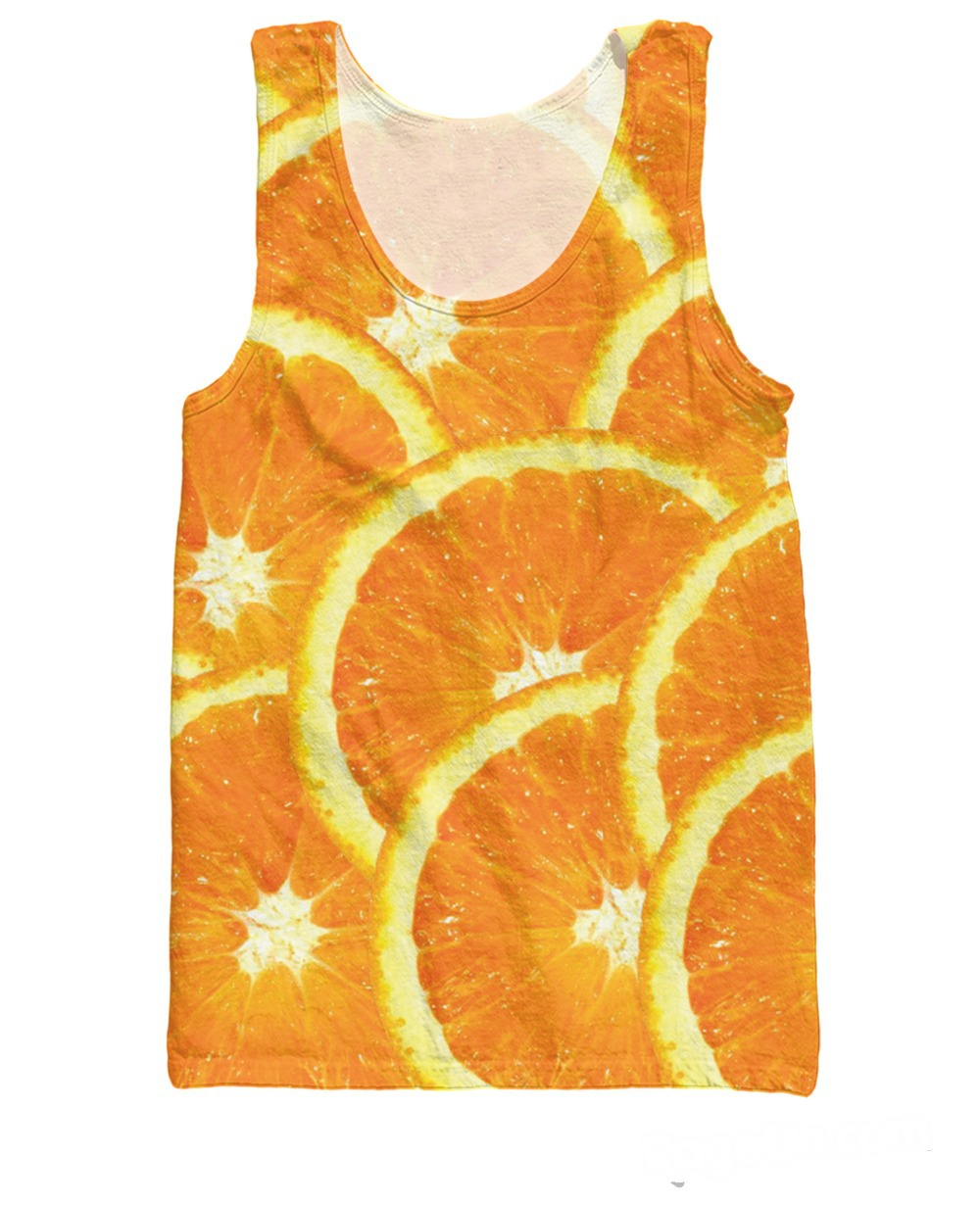 RuiYi Women Men 3d tees Vest Jersey Oranges awesome Tank Top citrusy fruit Fashion Clothing Shirts Tops Plus Size Free Shi