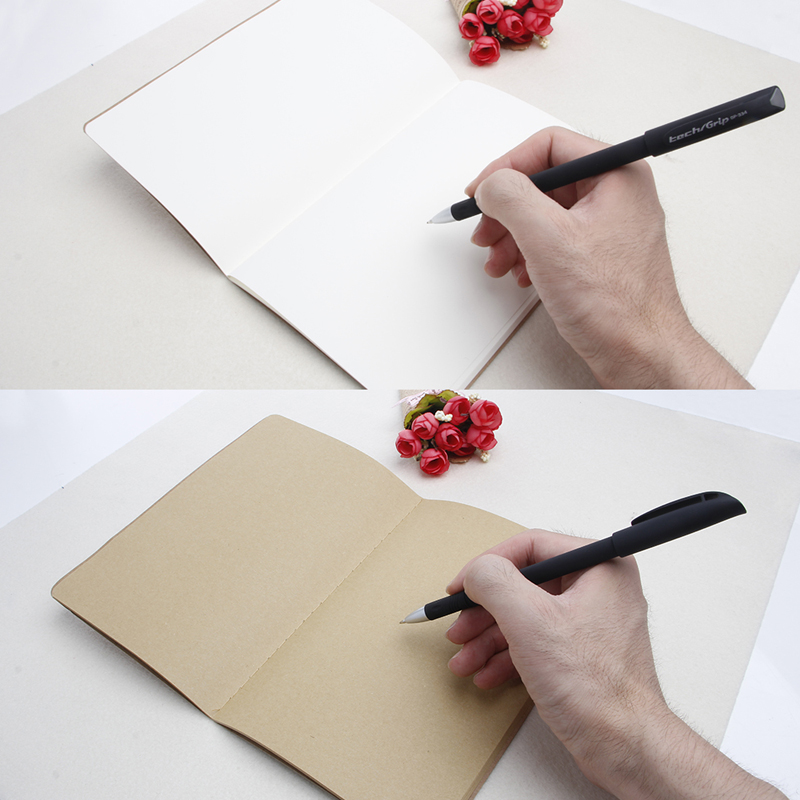 A5 Kraft Paper Journal Diary Note Book Blank Page Stationery Graffiti Planner
