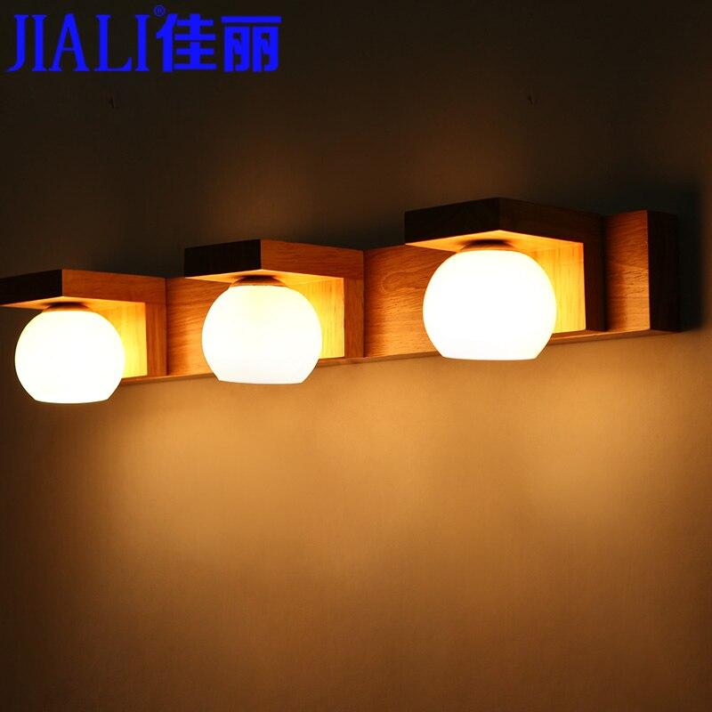 Belle Ikea Holz LED Kosmetikspiegel Licht Bad Eitelkeit Lichter Waschen  Einfache Mode Schlafzimmer Wandleuchte In Belle Ikea Holz LED  Kosmetikspiegel Licht ...