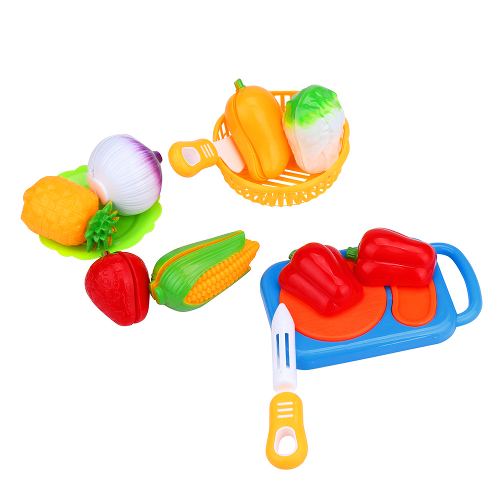 Hot 12PC Cutting Fruit Vegetable Food Pretend Play Toy For Children Kid Educational kid's Kitchen Levert Dropship O107 17