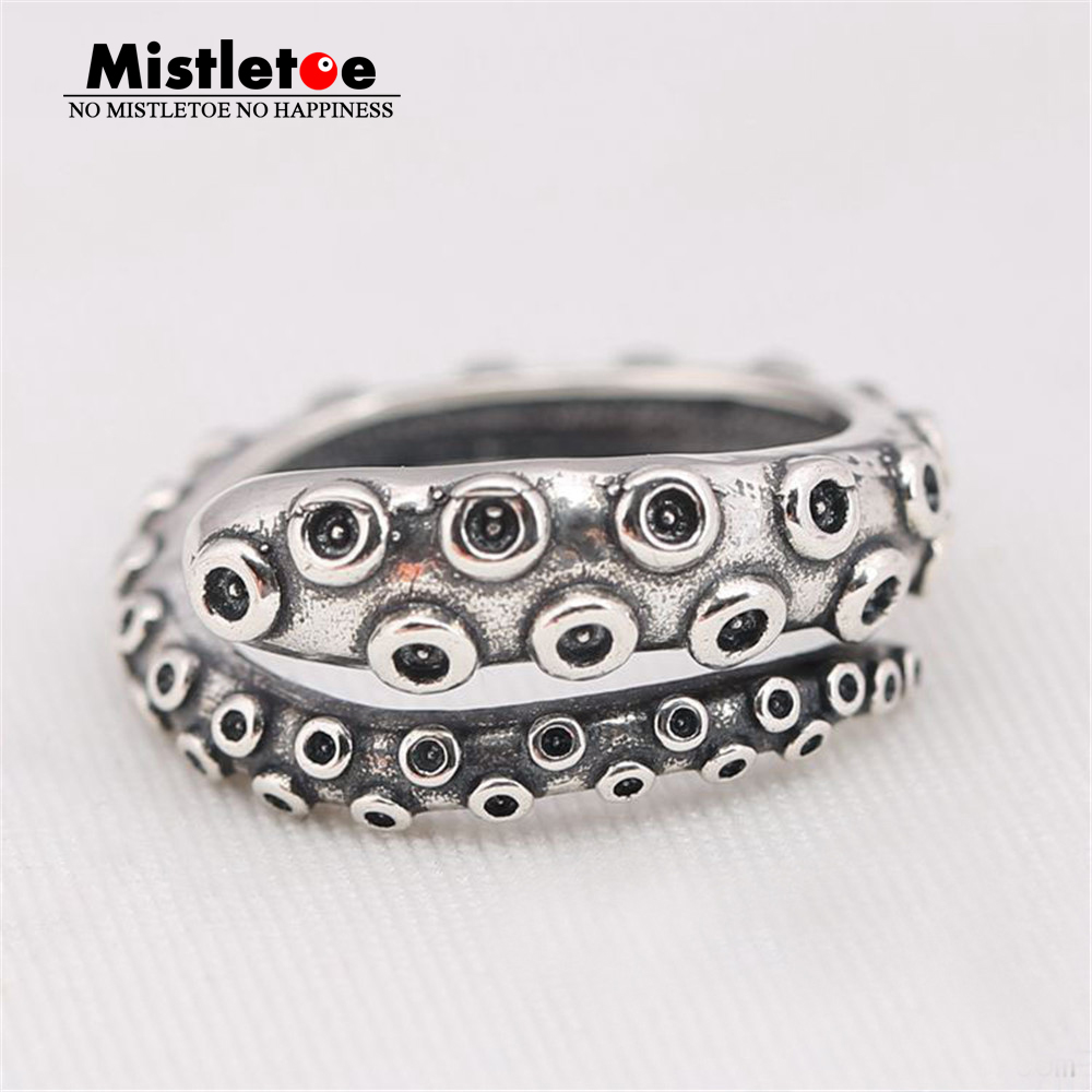 Genuine 925 Sterling Silver Animal Octopus Ring Compatible With Pandora Ring Original Jewelry