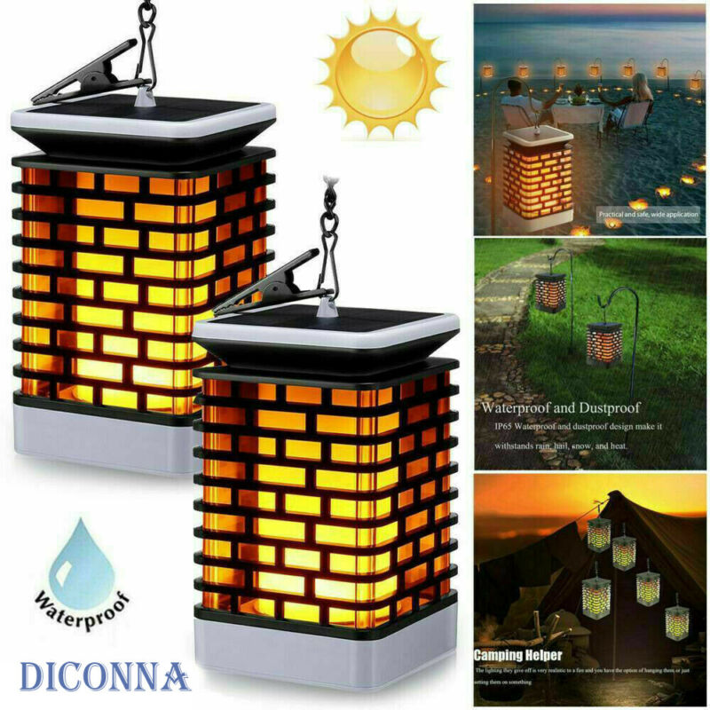 1PC Flame Solar Torch Light 99 LED Flickering Dancing Garden Path Lantern Lamp