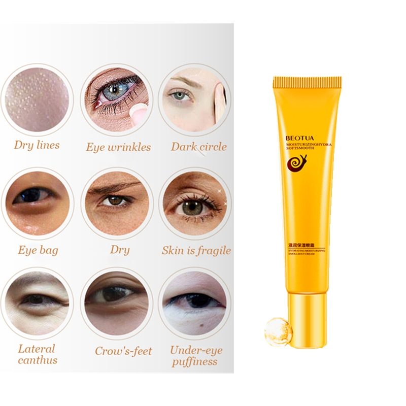 Oil Control Snail Essence Eye Cream Whitening Dark Circles Remove Red Eye Drops Skin Lifting Serum Anti Wrinkle Fine Lines Gel image