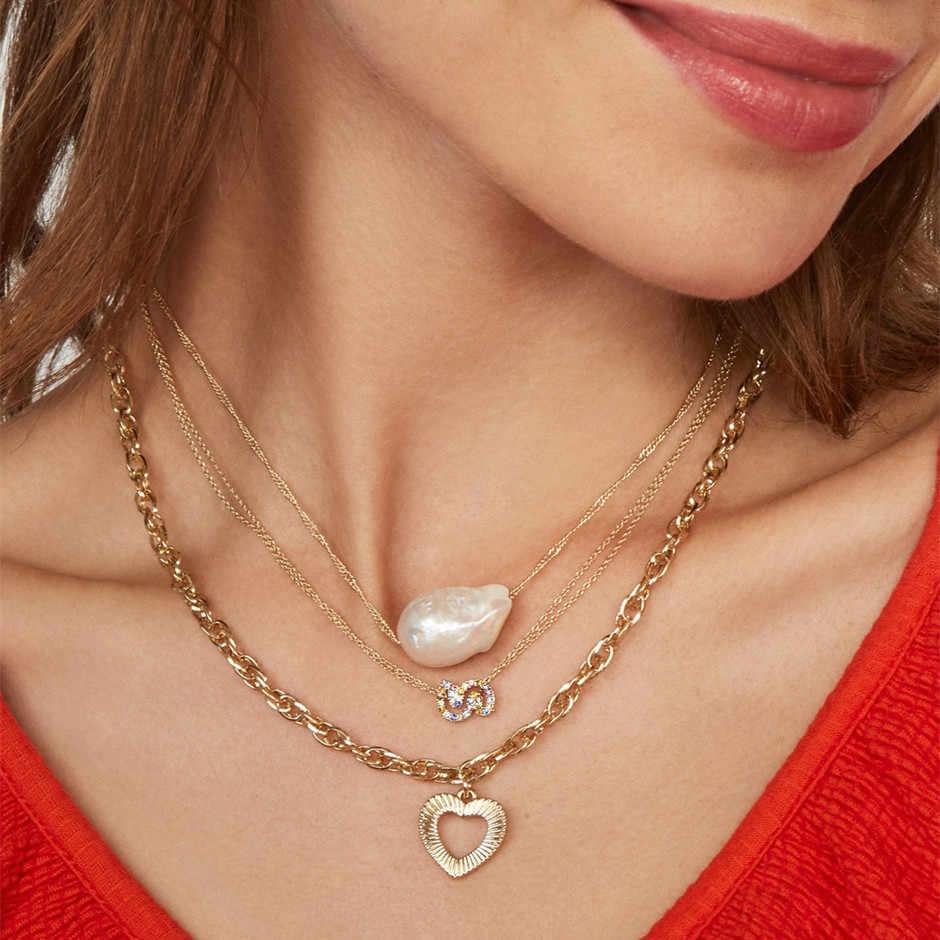 Najlepsza pani nowy czeski szklany kryształ list serce usta Choker naszyjnik wisiorki kobiety warstwa eleganckie ślubne ozdobne naszyjnik
