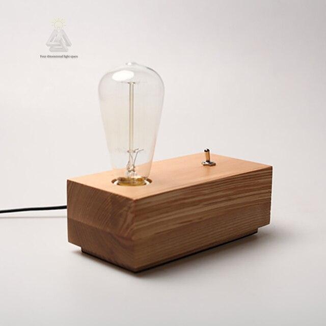 Voorkeur Retro Koffie Winkel Tafellamp Hout Vintage Bureaulamp 40 W Edison MD68