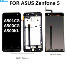 FOR ASUS Zenfone 5 LCD A501CG A500CG A500KL  Touch screen+LCD display integrated components Digitizer Assembly original cell phone lcd display touch screen digitizer assembly for asus zenfone 5 a500cg a501cg t00j t00f 5 0 lcd tools