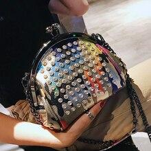Модная брендовая женская сумка из искусственной кожи с бриллиантами, сумка на плечо с цепочкой, сумка через плечо, женская сумка через плечо для девушек 328